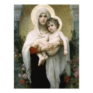 Madonna de Bouguereau des roses (1903) Prospectus 21,6 Cm X 24,94 Cm