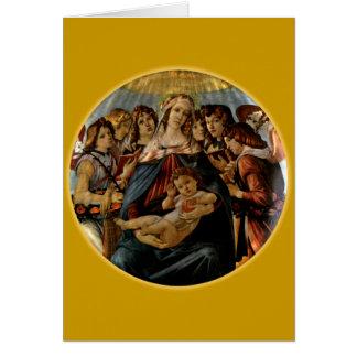 Madonna de la grenade - Botticelli Cartes