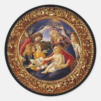 Madonna del Magnificat Sticker Rond