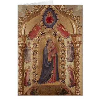 Madonna des étoiles carte de vœux