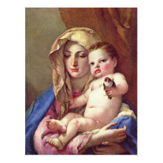Madonna du chardonneret cartes postales
