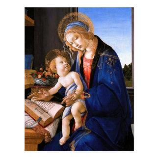 Madonna enseigne l'enfant Jésus Sandro Botticelli Carte Postale