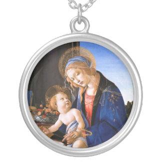 Madonna enseigne l'enfant Jésus Sandro Botticelli Pendentif Rond