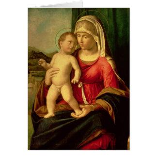 Madonna et enfant 2 carte de vœux