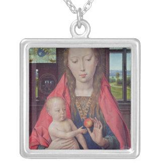 Madonna et enfant 2 pendentif carré