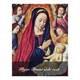 Madonna et enfant avec des anges par Meister Von M Prospectus Avec Motif