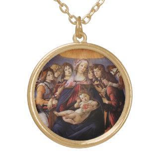 Madonna et enfant avec des anges par Sandro Pendentif Rond