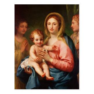 Madonna et enfant avec deux anges, 1770-73 cartes postales