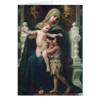 Madonna et enfant avec la carte de Jean-Baptist