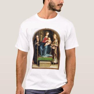 Madonna et enfant avec l'abbé et le St N de St T-shirt