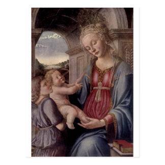 Madonna et enfant avec l'ange par ATF Lippo Lippi Carte Postale