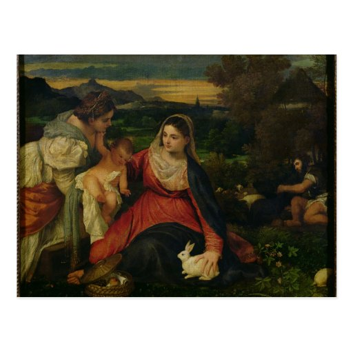 Madonna et enfant avec St Catherine C. 1530 Carte Postale