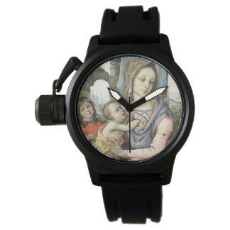 Madonna et enfant avec St Joseph et un ange Montres