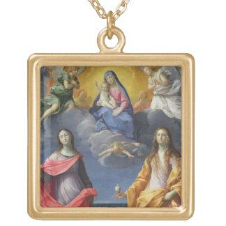 Madonna et enfant avec St Lucy et Mary Magdalene Colliers Personnalisés
