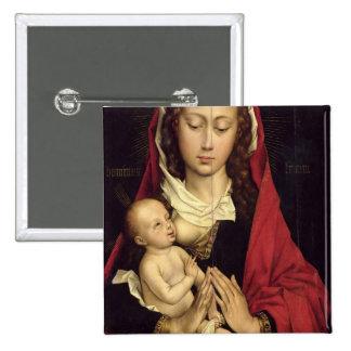 Madonna et enfant badge