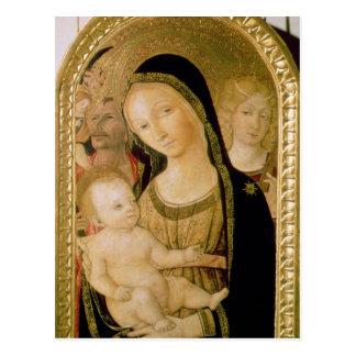 Madonna et enfant carte postale