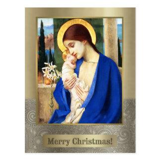 Madonna et enfant. Cartes postales de Noël de