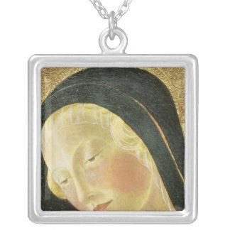 Madonna et enfant pendentif carré