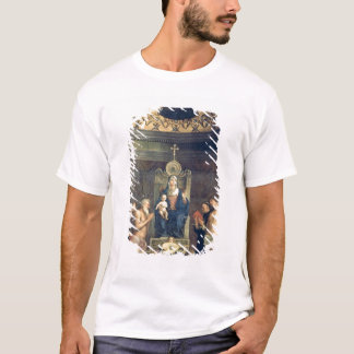 Madonna et enfant couronnés entre les solides t-shirt