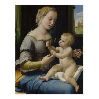 Madonna et enfant du Christ Carte Postale