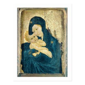 Madonna et enfant, école de la Bourgogne (huile Carte Postale