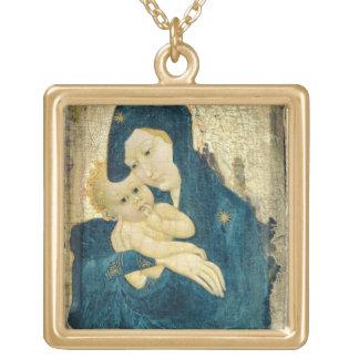 Madonna et enfant, école de la Bourgogne (huile su Pendentif Carré