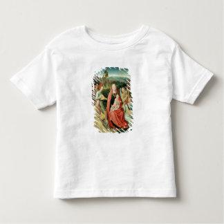 Madonna et enfant entourés par des anges t-shirt pour les tous petits