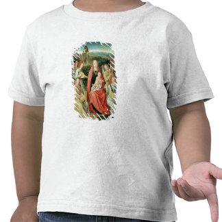 Madonna et enfant entourés par des anges t-shirt