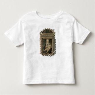 Madonna et enfant (huile sur le panneau) t-shirt pour les tous petits