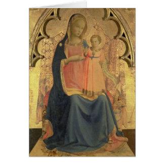 Madonna et enfant, panneau central d'un triptyque carte de vœux