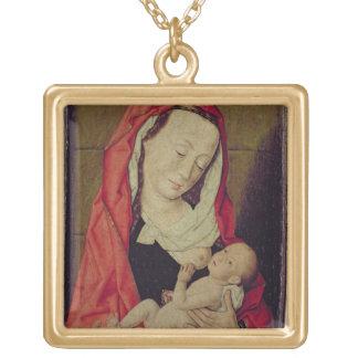 Madonna et enfant (panneau) collier plaqué or