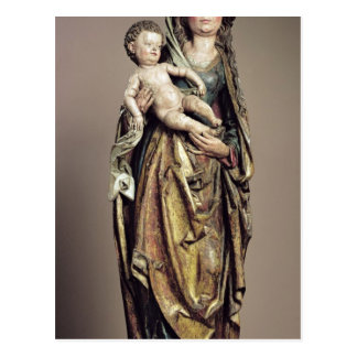 Madonna et enfant, sculpture en bois cartes postales