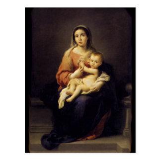 Madonna et enfant - Vierge Marie - Murillo Cartes Postales