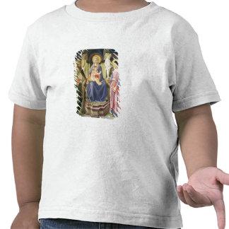 Madonna et l'enfant avec des solides solubles. t-shirt