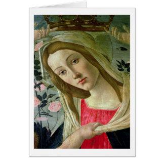 Madonna et l'enfant ont couronné par les anges, cartes