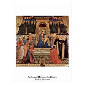 Madonna et saints couronnés par ATF Angelico Carte Postale