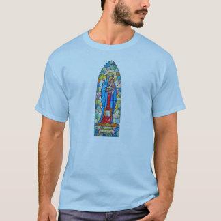 Madonna et style en verre souillé de nativité t-shirt