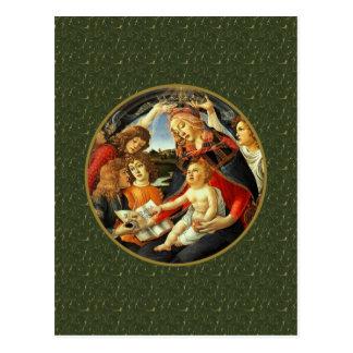 Madonna par Botticelli. Carte postale de Noël de
