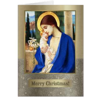 Madonna par Marianne charge. Carte de Noël