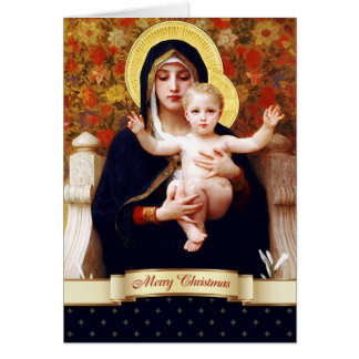 Madonna par W.Bouguereau. Carte de Noël de
