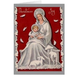 Madonna religieux vintage et carte de Noël