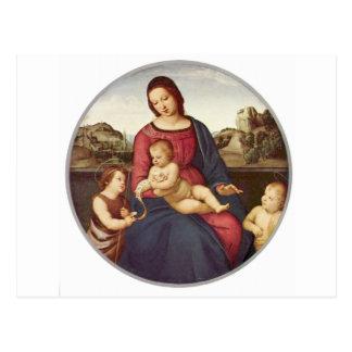 Madonna Terranuova par Raphael Cartes Postales