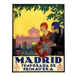 Madrid Temporada de Primavera - affiche vintage Carte Postale