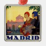 Madrid Temporada de Primavera - affiche vintage Ornement Carré Argenté