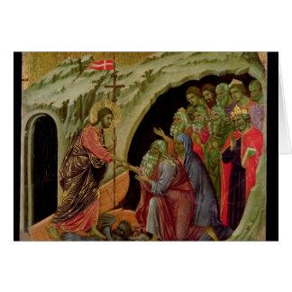 Maesta : Descente dans le vide, 1308-11 Carte De Vœux