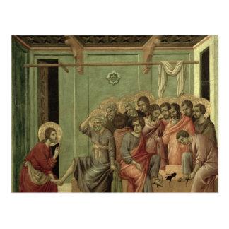 Maesta : Le Christ lavant les pieds des disciples Carte Postale