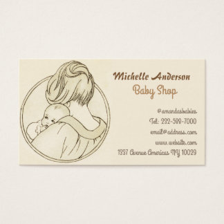 Magasin de bébé et soin de bébé cartes de visite
