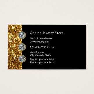 Magasin de bijoux chic cartes de visite