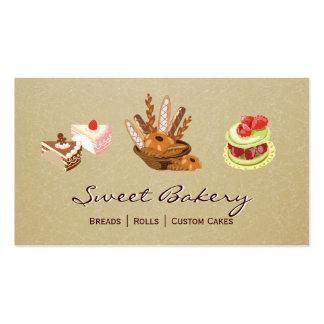 Cartes de visite pour les boulangers patissiers