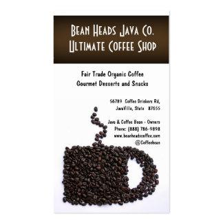 Magasin de café de forme de tasse de grains de carte de visite standard